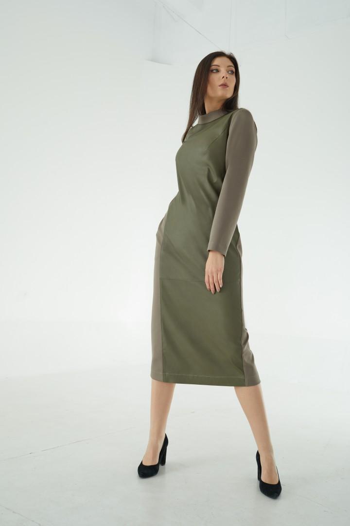 Платье MALI 421-104 олива