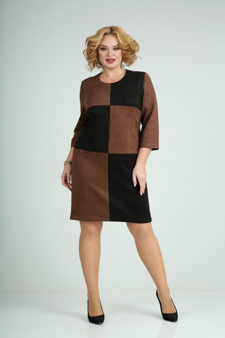 Платье MammaModa М-689/1 коричневый