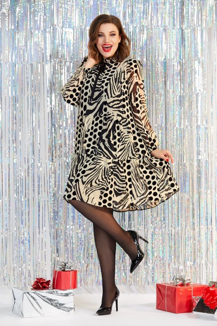 Платье Милора Стиль 848 флок