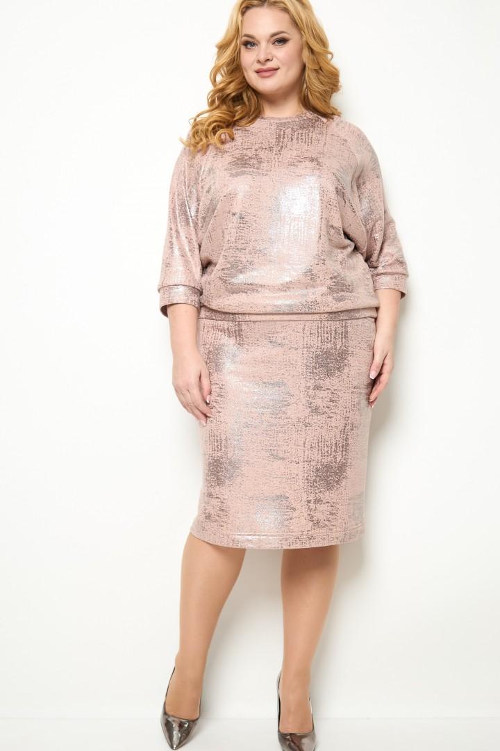 Костюм Мишель Шик 1263 бронза, бледно-розовый