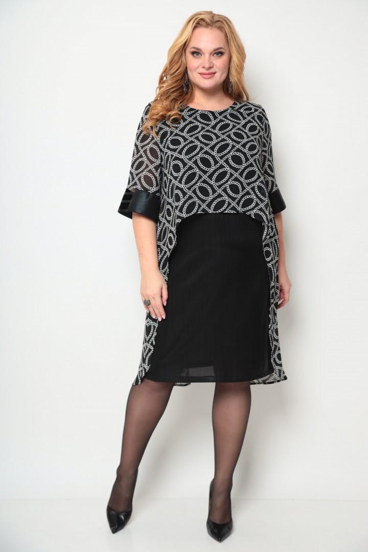 Платье Мишель Шик 2072 черный, принт