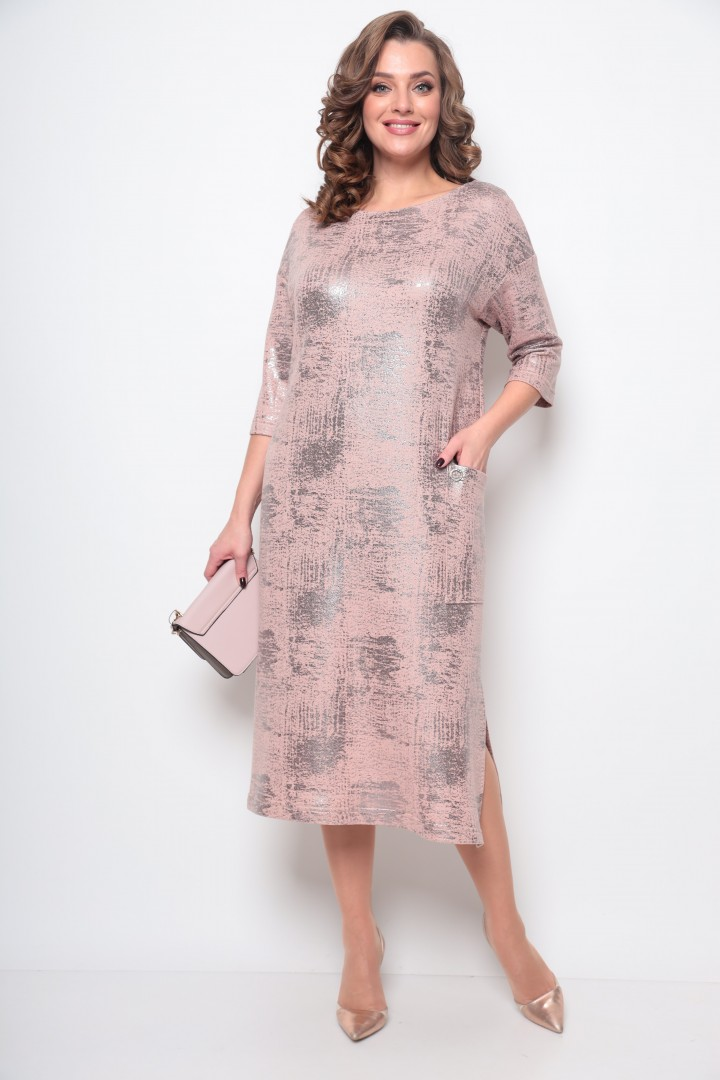 Платье Мишель Шик 2074 розовое золото