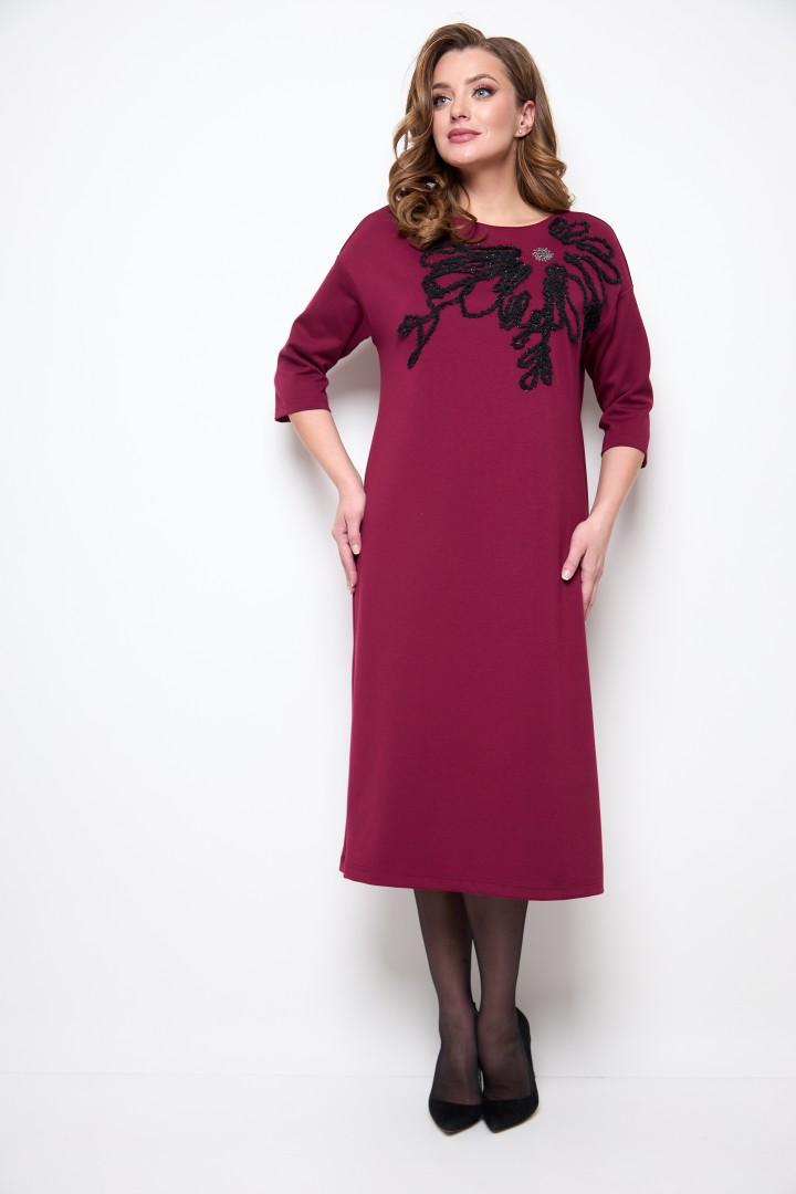 Платье Мишель Шик 2076 бордовый