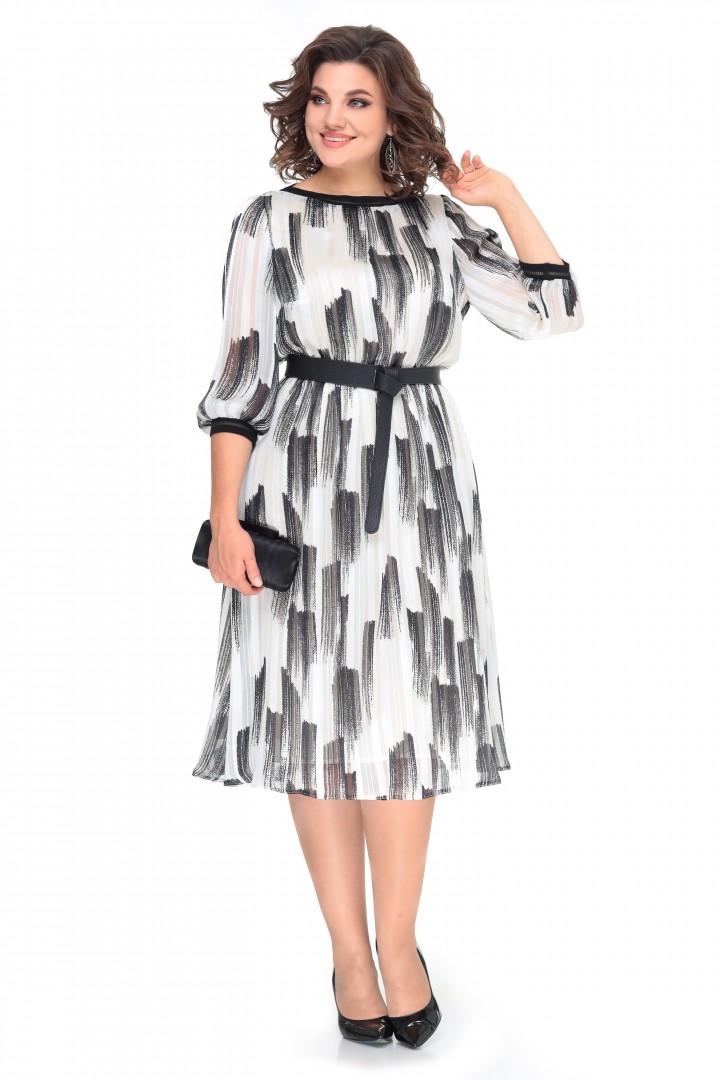 Платье МишельСтиль 994 черно-белое