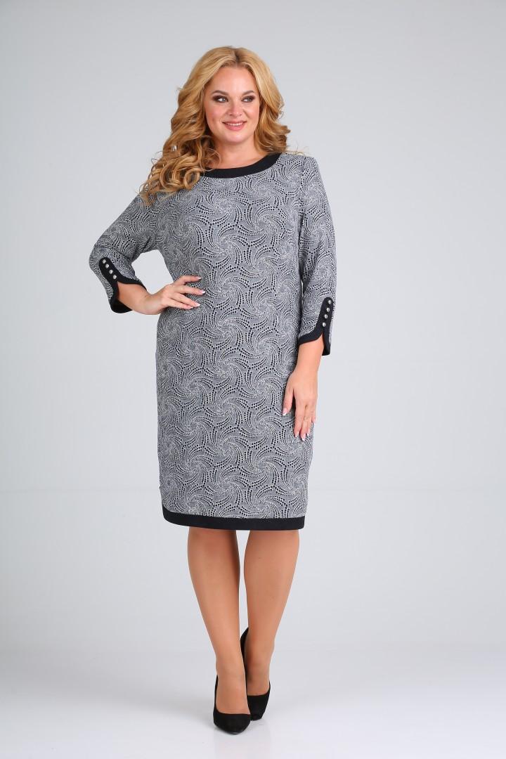 Платье Мода-Версаль 1789 серый