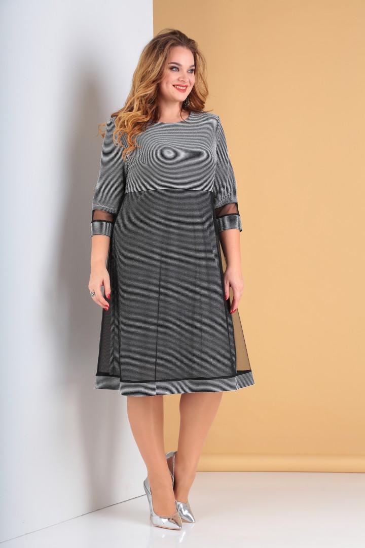 Платье Мода-Версаль 2115 серебро