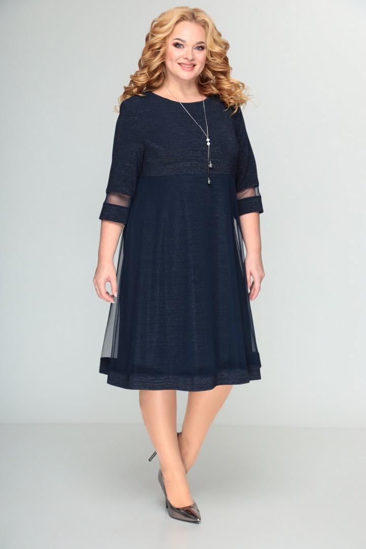 Платье Мода-Версаль 2115 т.синий
