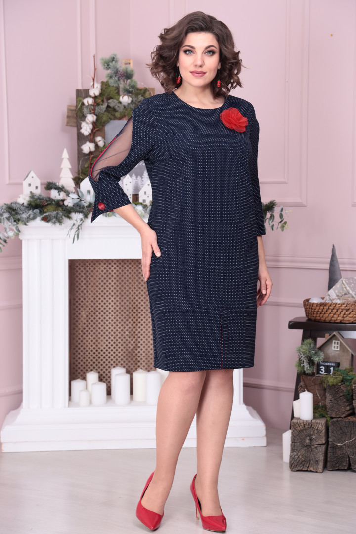 Платье Мода-Версаль 2340 т.синий+красный