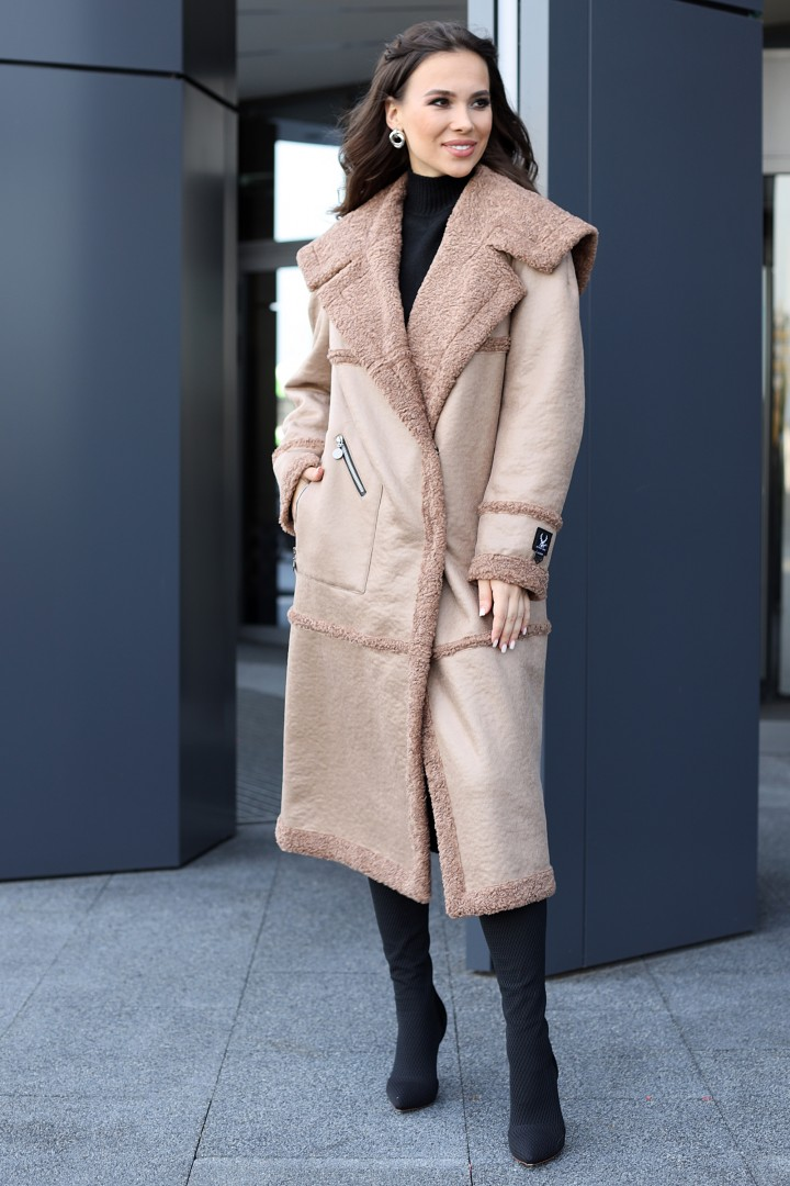 Пальто Мода-Юрс 2714 капучино
