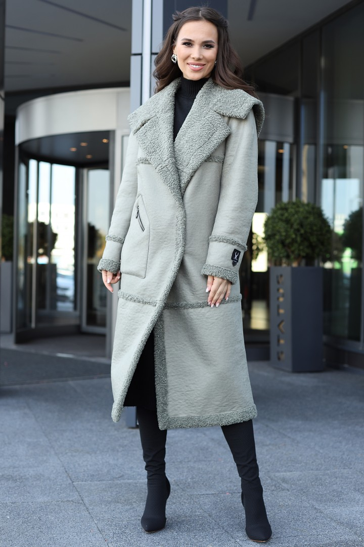 Пальто Мода-Юрс 2714 олива