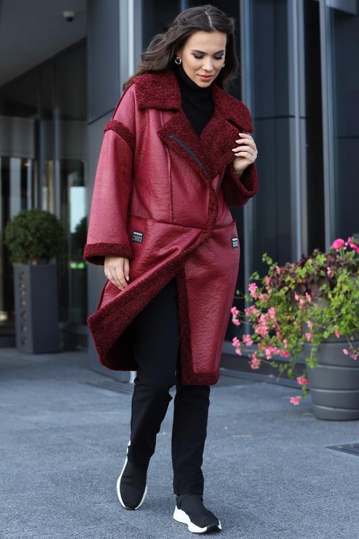Пальто Мода-Юрс 2715 бордо