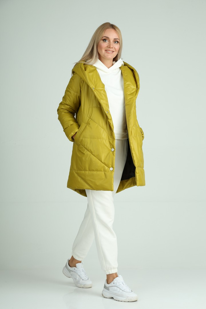 Пальто MODEMA 1005/4 оливково-желтый