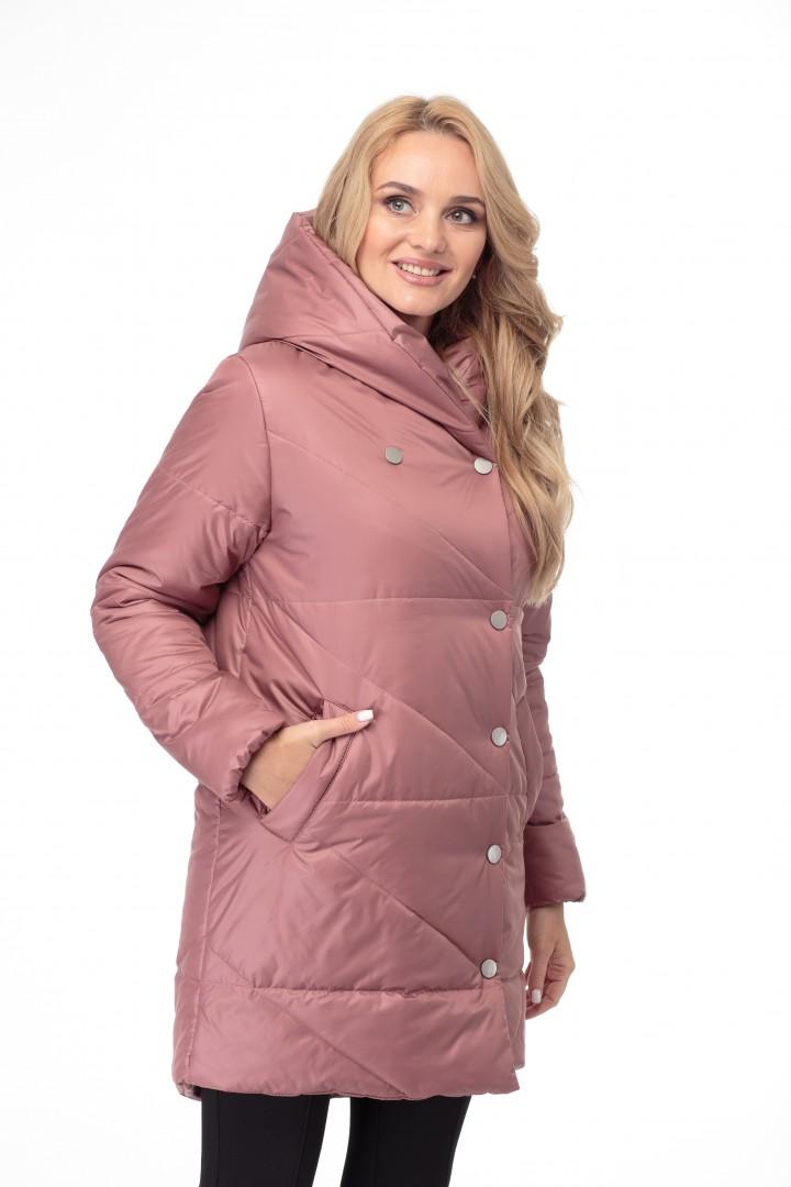 Пальто MODEMA 1005/3 коричнево-розовый