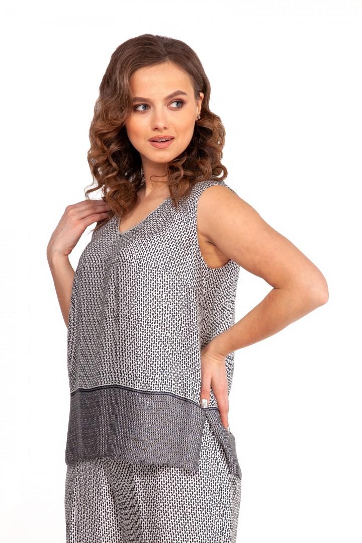 Блузка NIKA 5277 серый