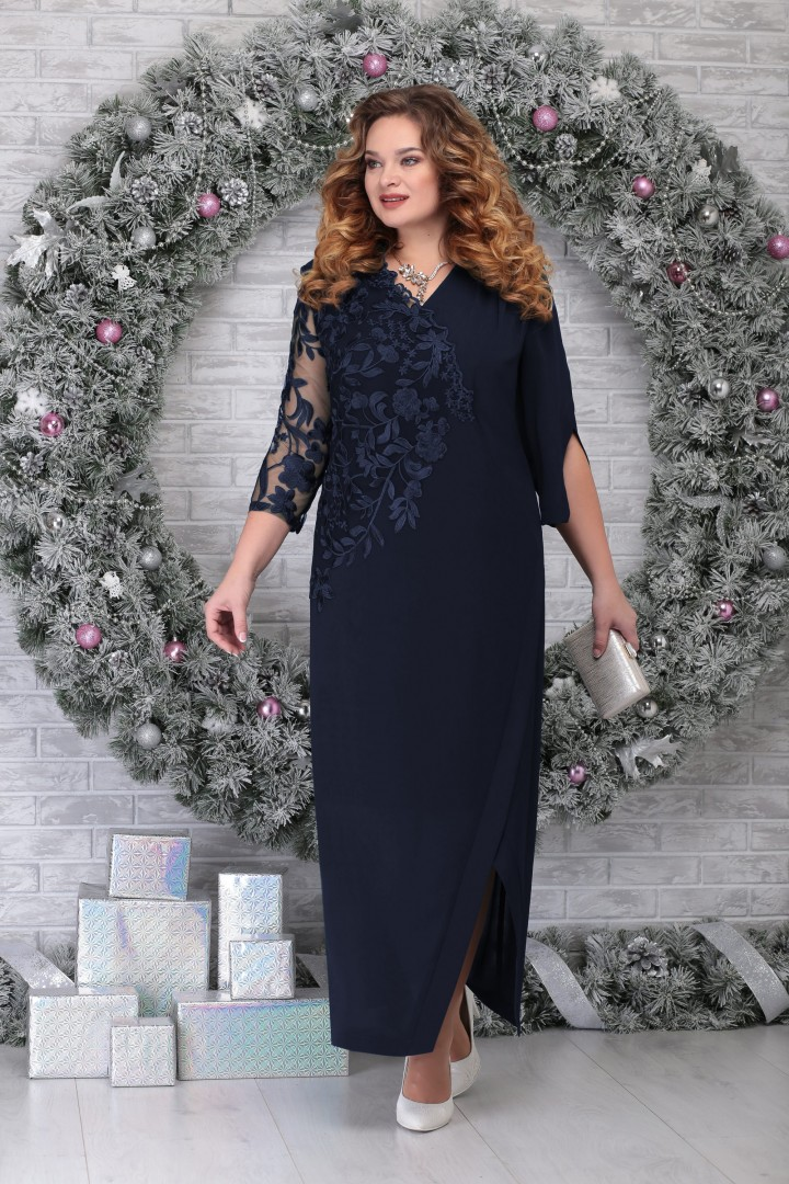 Платье Ninele 5801 синий