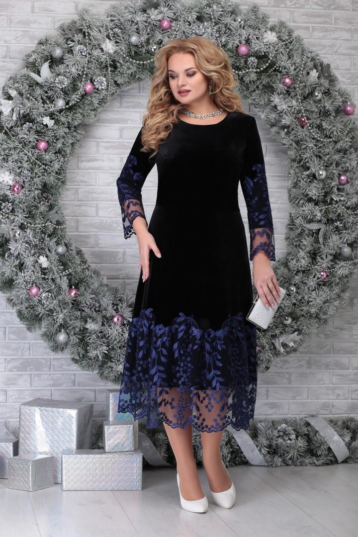 Платье Ninele 5811 черный+синий