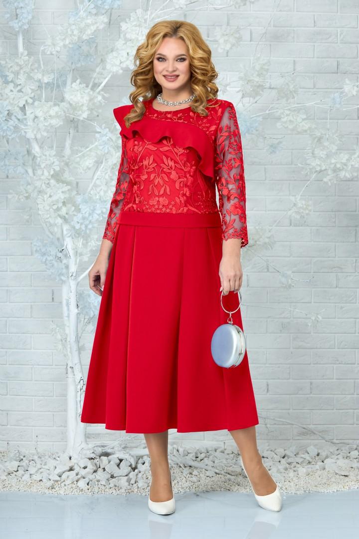 Платье Ninele 5849 красный