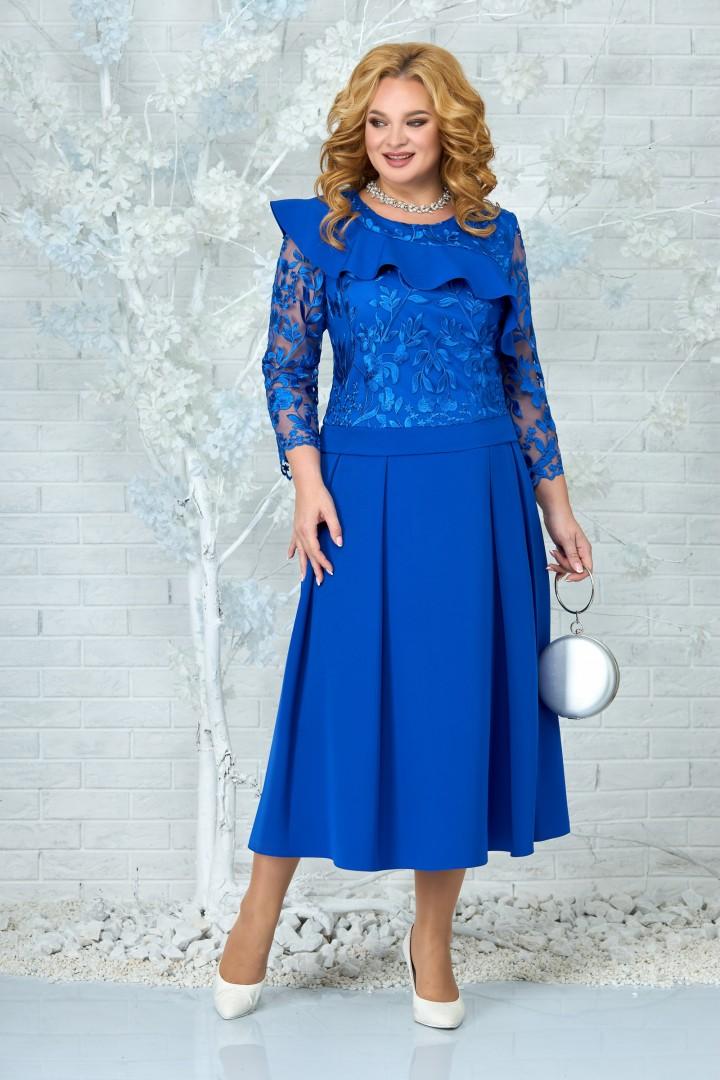 Платье Ninele 5849 василек