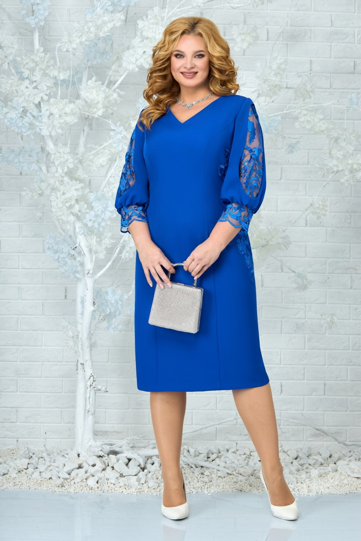 Платье Ninele 5859 василек