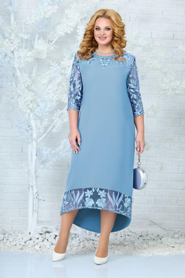 Платье Ninele 7335 голубой