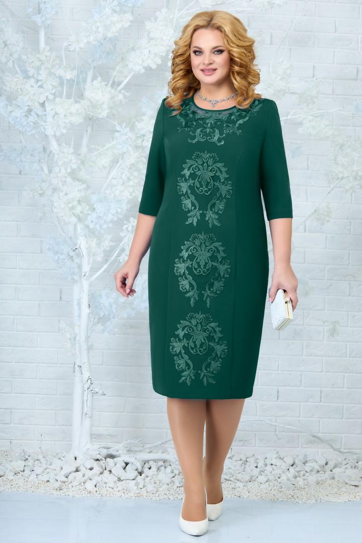 Платье Ninele 7339 изумруд