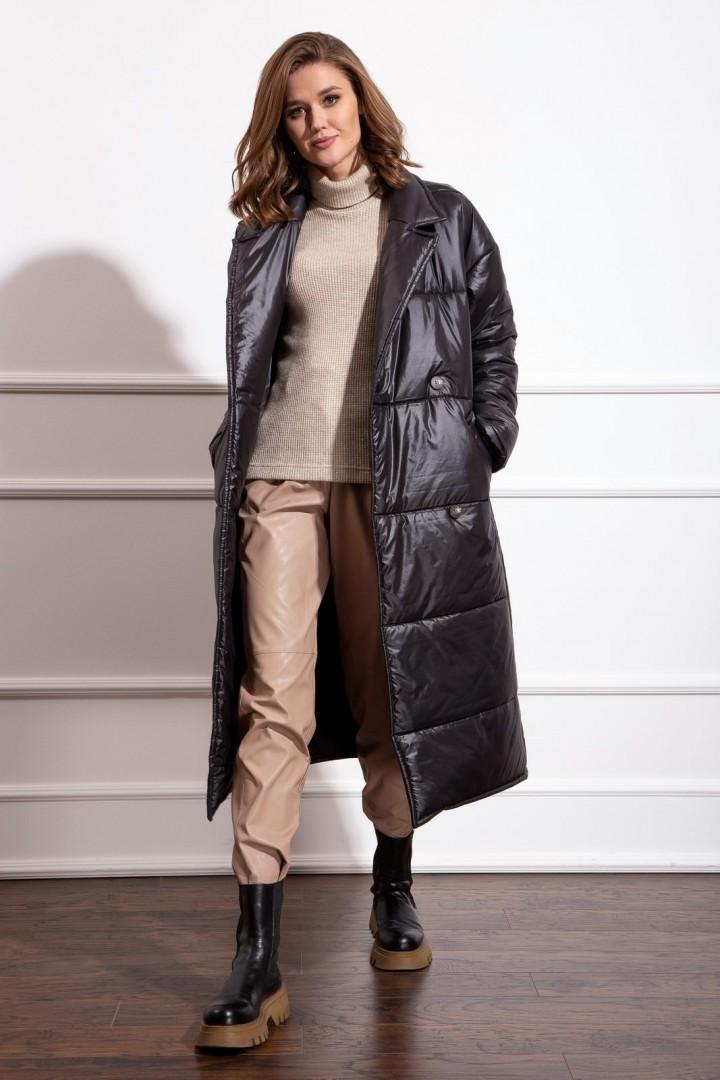 Пальто Nova Line 10276 черный