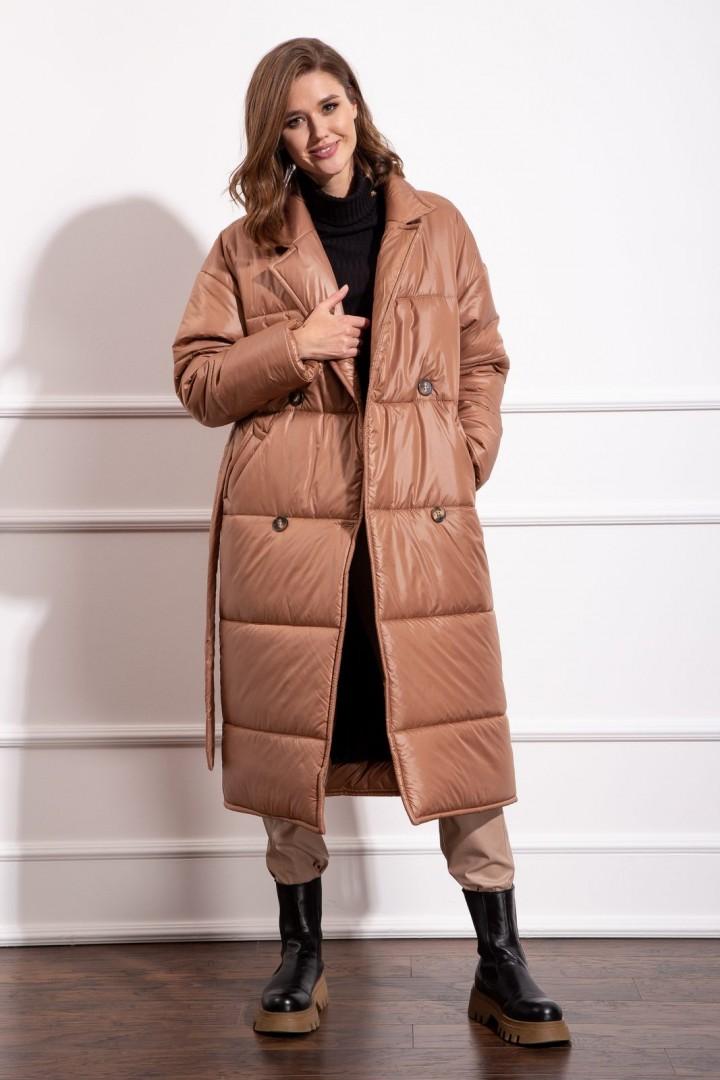 Пальто Nova Line 10276 медный