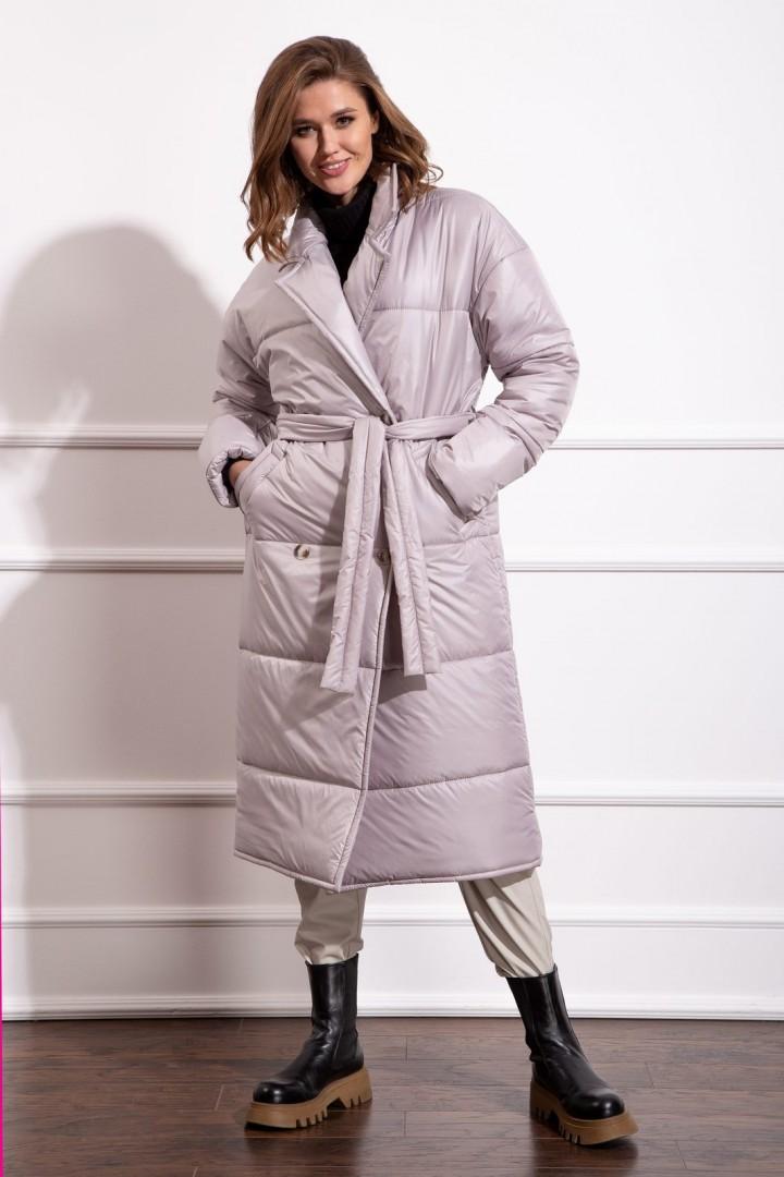 Пальто Nova Line 10276 жемчужно-серый