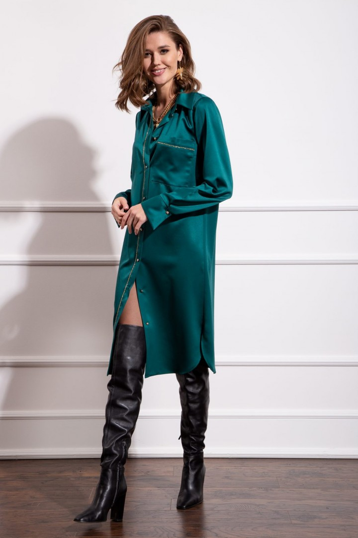 Платье Nova Line 50157 изумрудный