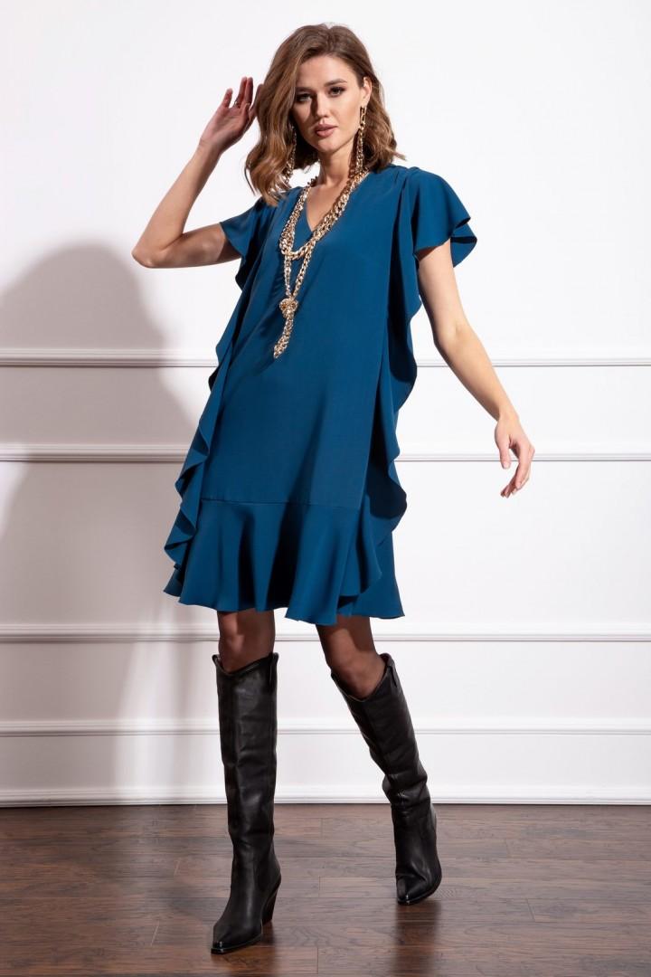 Платье Nova Line 50166 тёмно-лазурный