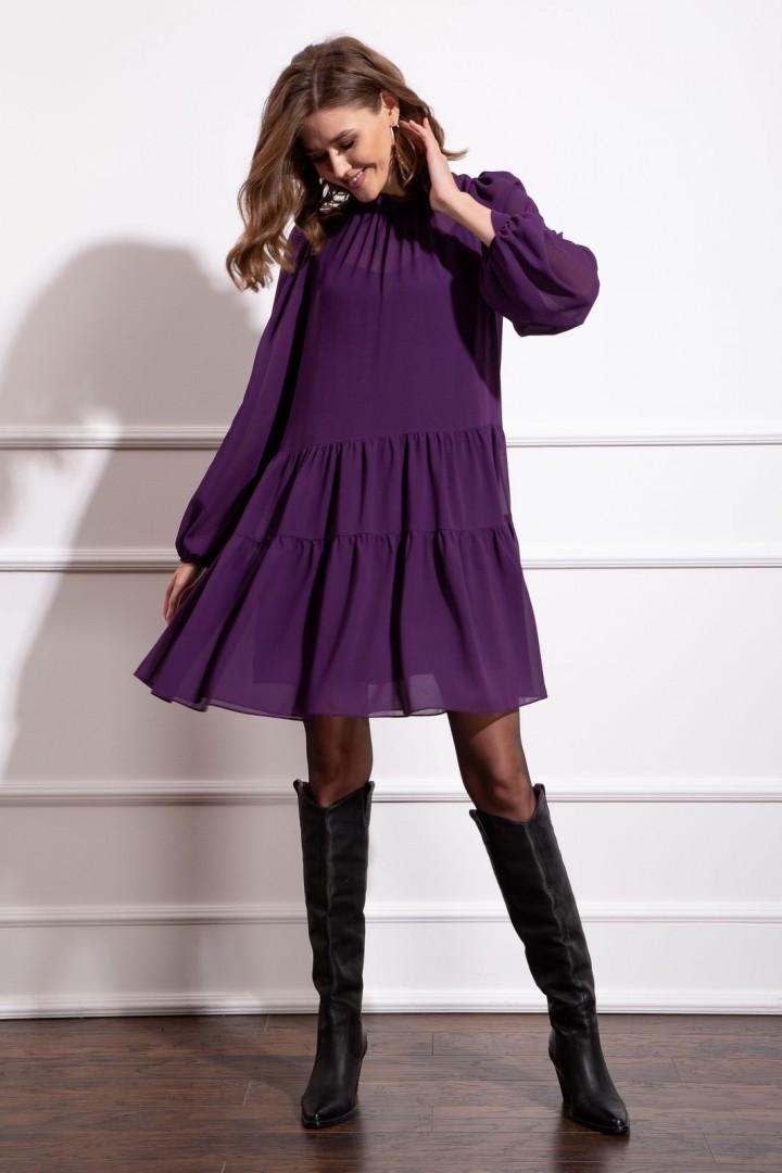 Платье Nova Line 50171 фиолетовый