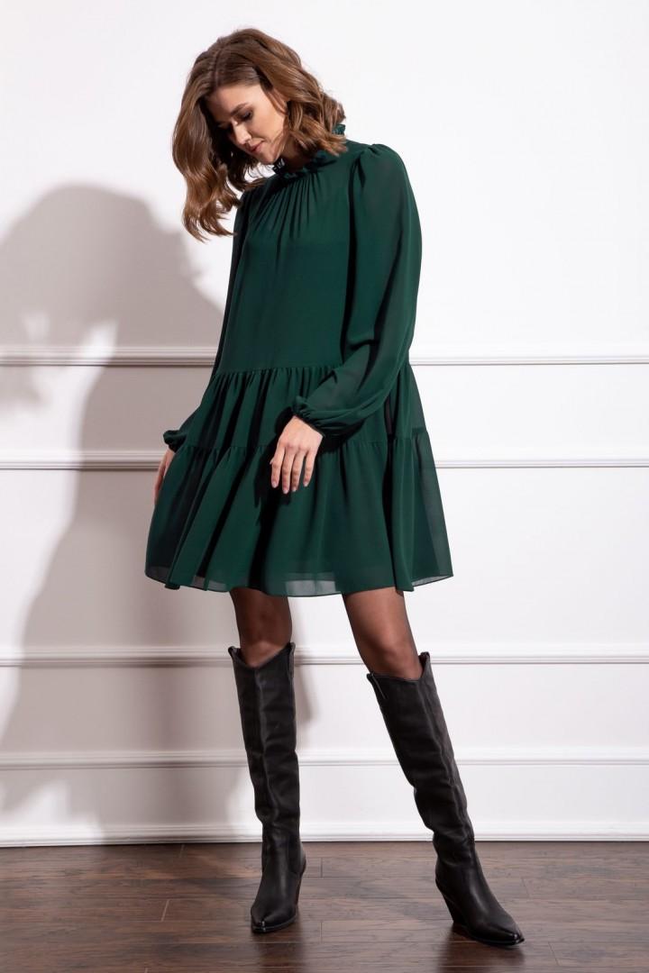Платье Nova Line 50171 темно-зеленый