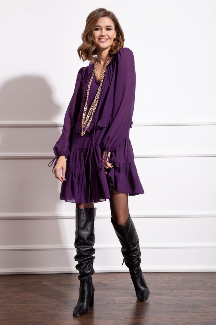Платье Nova Line 50172 фиолетовый