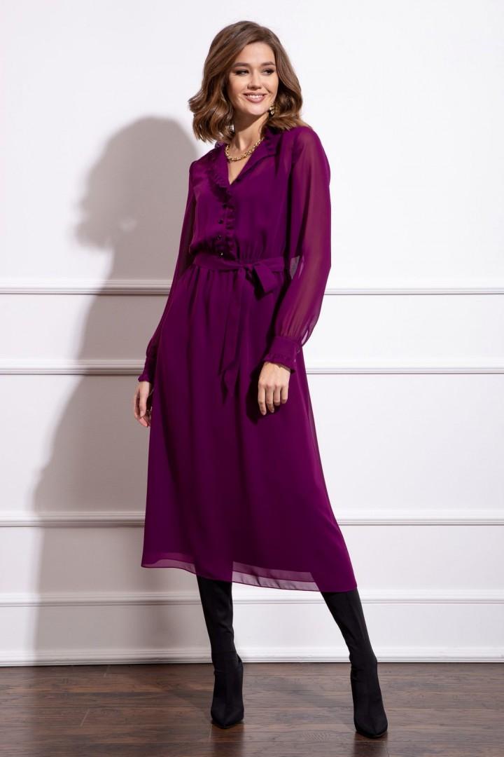 Платье Nova Line 50175 сливовый