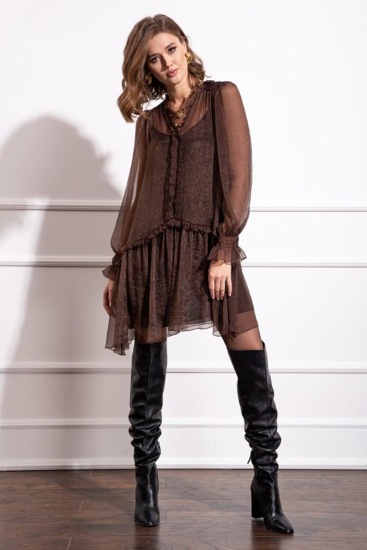 Платье Nova Line 50178 шоколадный