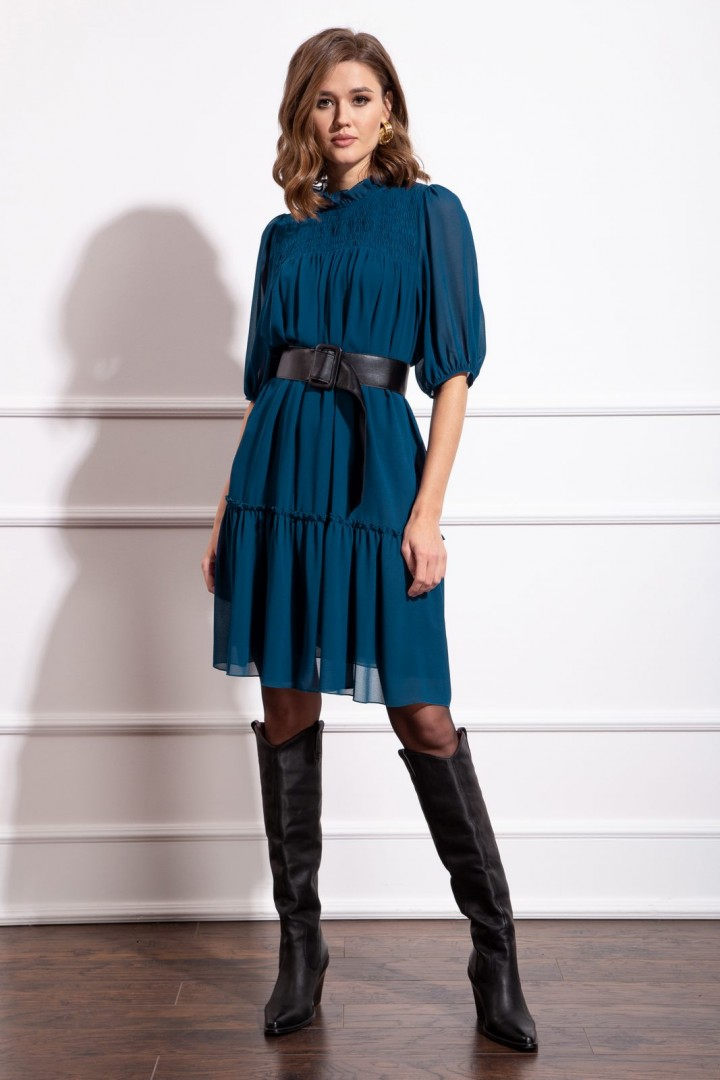 Платье Nova Line 50182 тёмно-лазурный