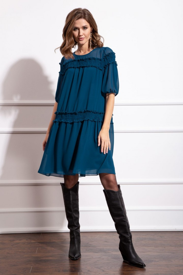 Платье Nova Line 50183 тёмно-лазурный