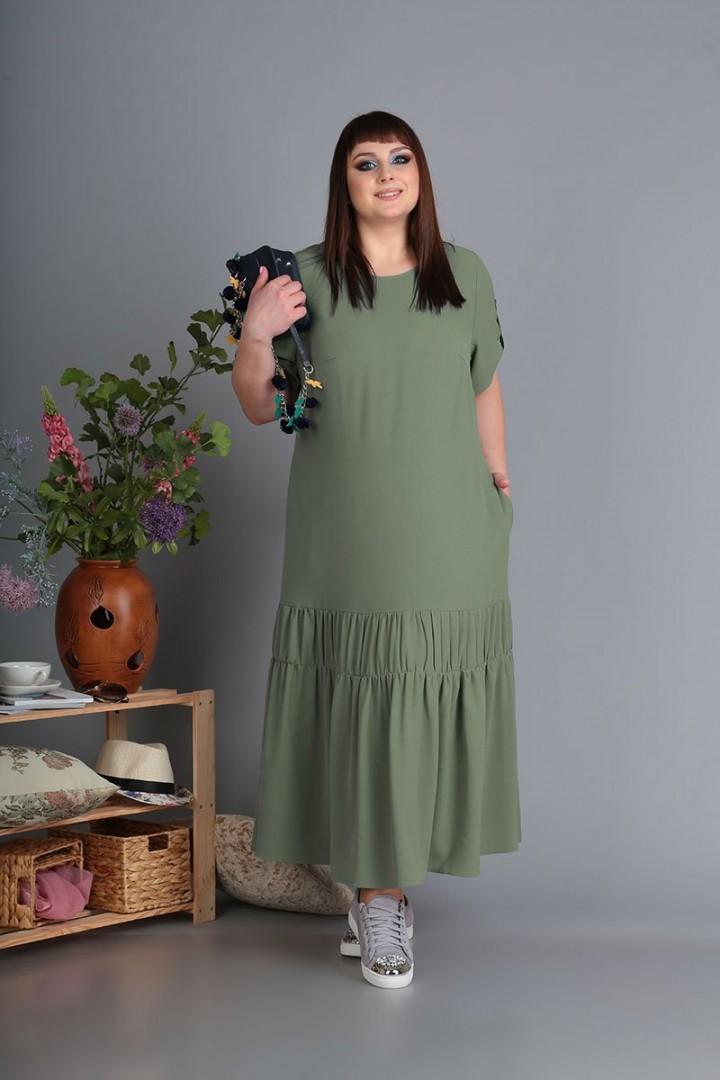 Платье Новелла Шарм 3461 олива