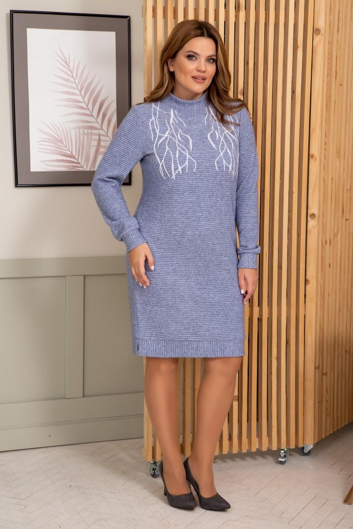 Платье ОЛЕГРАН 3818 голубой