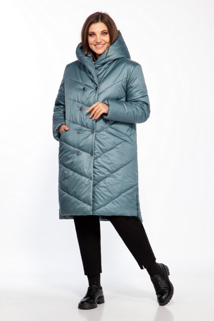 Пальто Ольга Стиль 699 изумруд