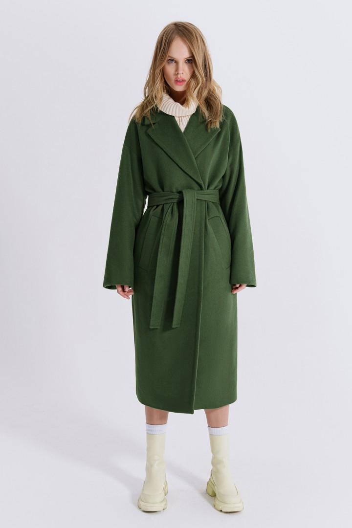Пальто Pirs 1411 серо-зеленый