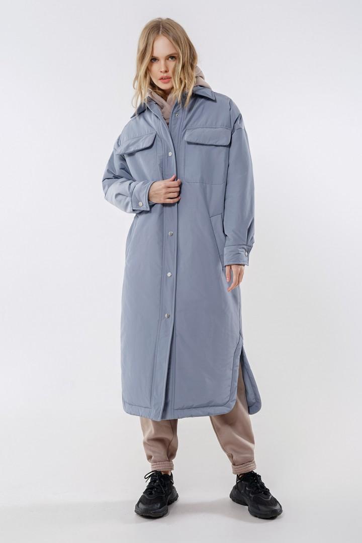 Пальто Pirs 1678 голубой