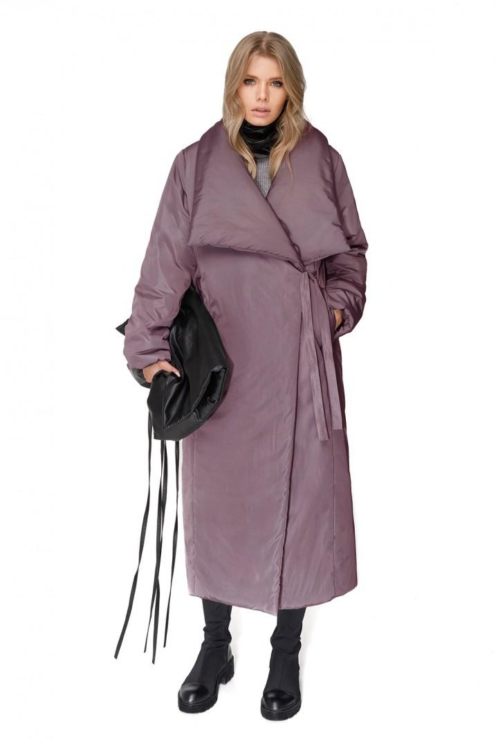 Пальто Pirs 1993 серо-фиолетовый