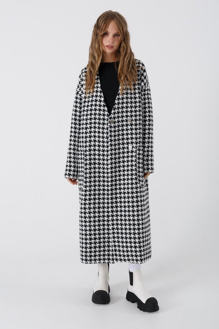 Пальто Pirs 3391 черно-белый