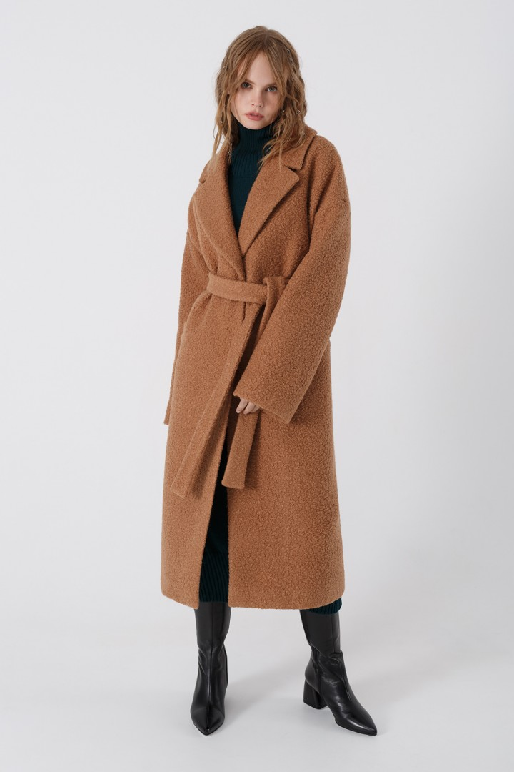 Пальто Pirs 3401 бежевый