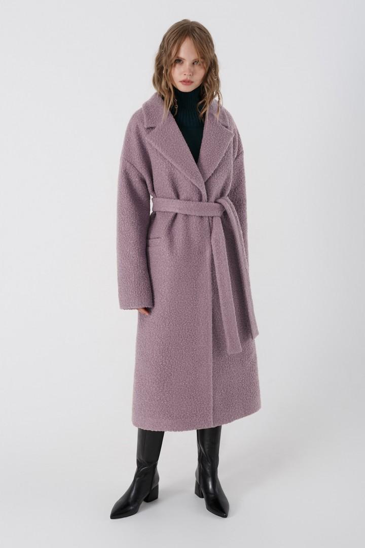 Пальто Pirs 3401 серо-сиреневый