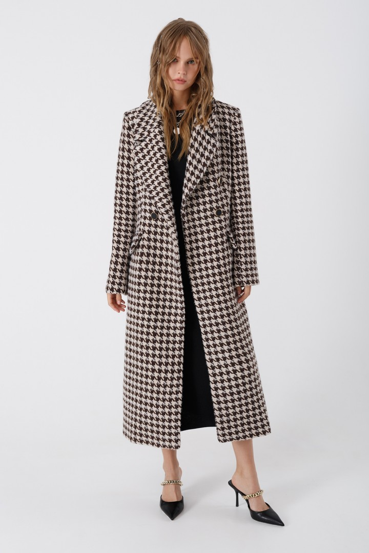 Пальто Pirs 3435 черно-белый