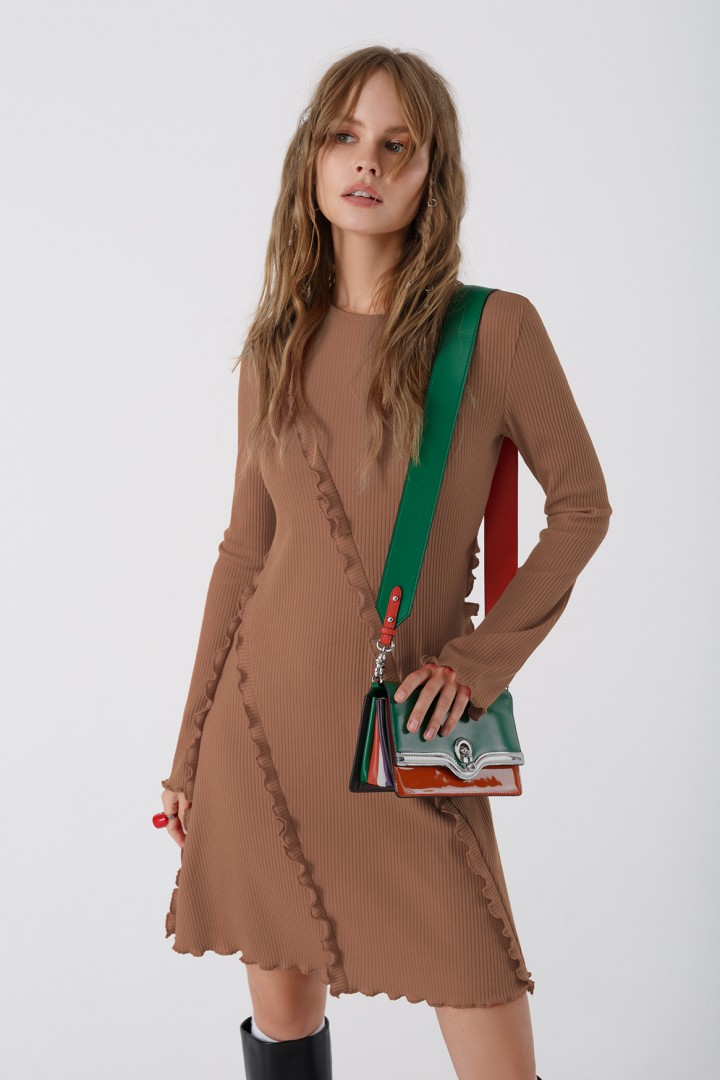 Мини-платье Pirs 3438 бежевый