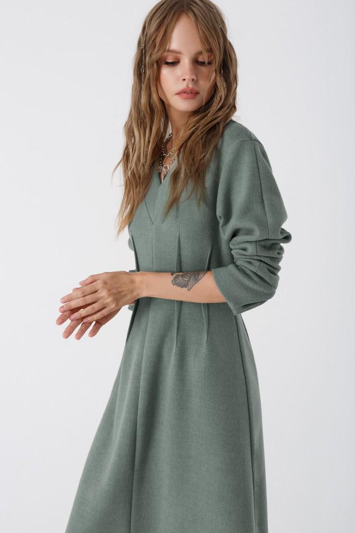 Платье Pirs 3442 серо-мятный