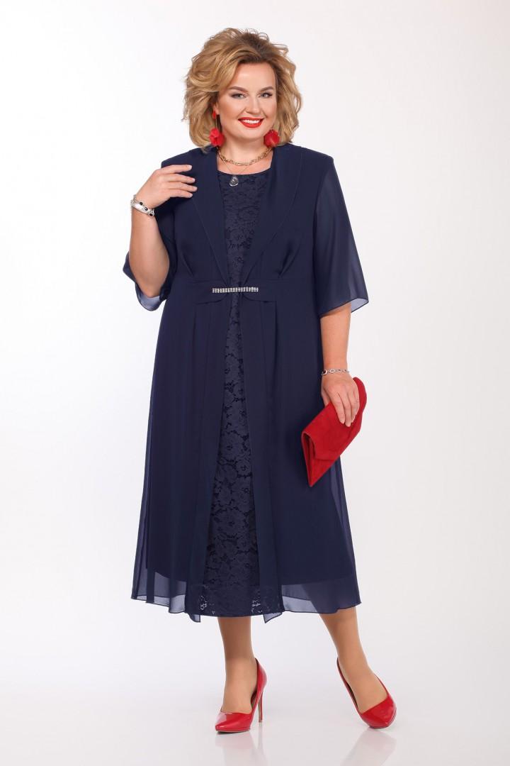 Платье Pretty 1159 темно-синий